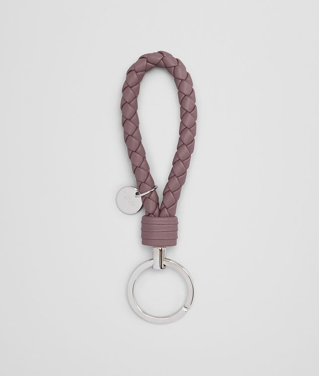 BOTTEGA VENETA KEY RING IN GLICINE INTRECCIATO NAPPA Keyring or Bracelets Woman fp
