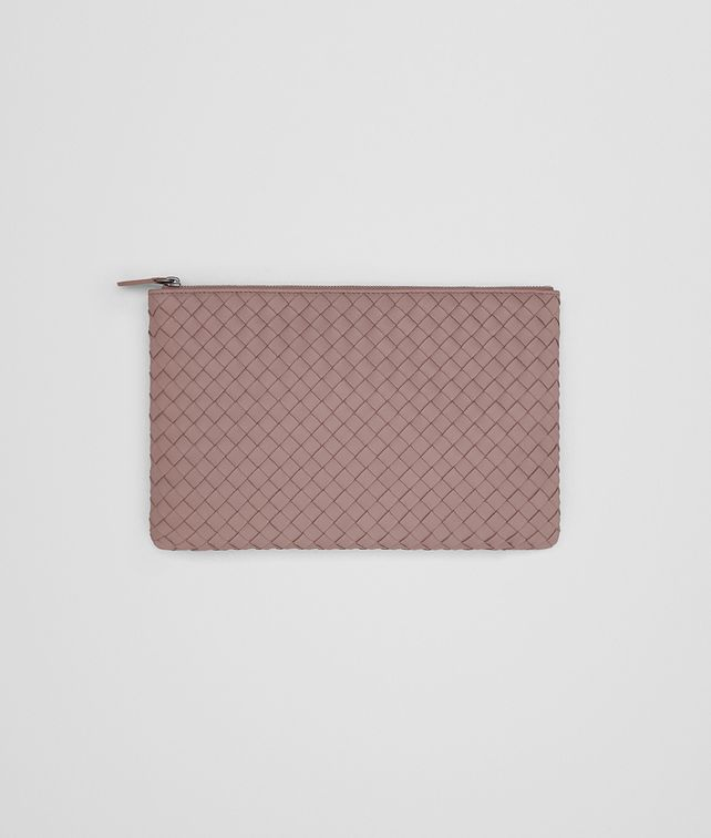 BOTTEGA VENETA MEDIUM DOCUMENT CASE IN DESERT ROSE INTRECCIATO NAPPA Other Leather Accessory Woman fp