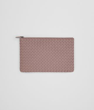MEDIUM DOCUMENT CASE IN DESERT ROSE INTRECCIATO NAPPA