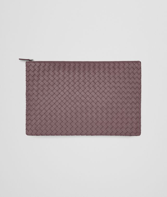 BOTTEGA VENETA LARGE DOCUMENT CASE IN GLICINE INTRECCIATO NAPPA Other Leather Accessory D fp