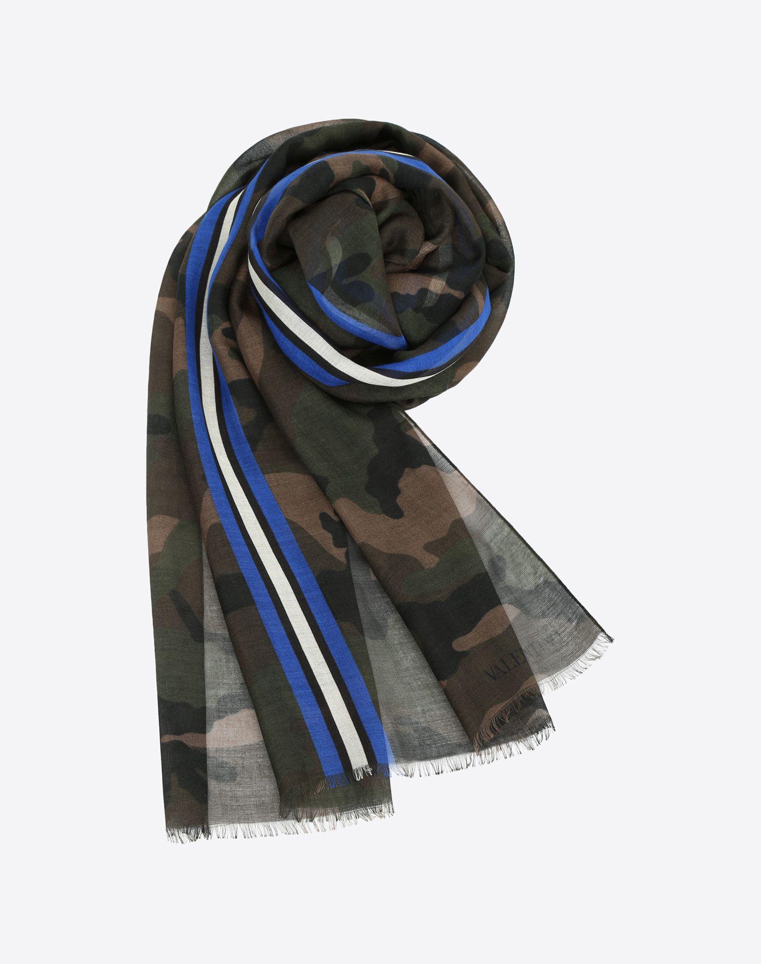 VALENTINO Gauze Logo Fringe Camouflage design  46513402jm