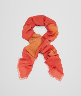 SCARF IN LIGHT BROWN ORANGE WOOL