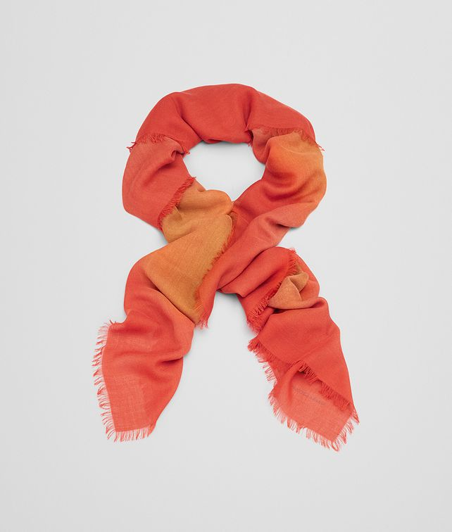 BOTTEGA VENETA SCARF IN LIGHT BROWN ORANGE WOOL Scarf or other D fp