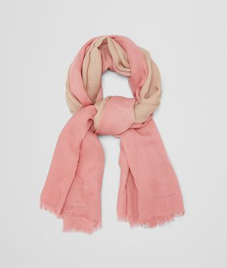 SCARF IN IVORY PINK WOOL