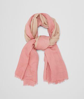 アイボリー ピンク ウール スカーフ