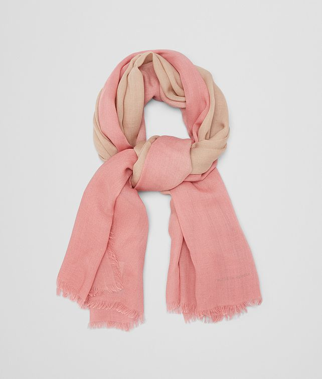 BOTTEGA VENETA SCARF IN IVORY PINK WOOL Scarf or other D fp
