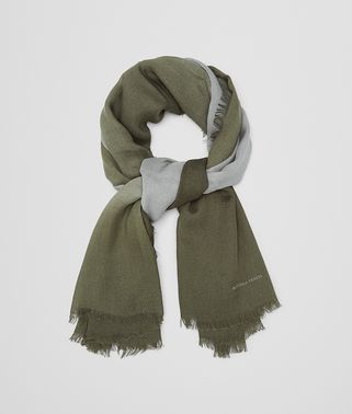 SCARF IN NILE DARK GREEN WOOL