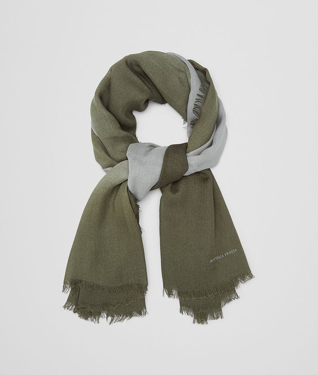 BOTTEGA VENETA SCARF IN NILE DARK GREEN WOOL Scarf or other U fp