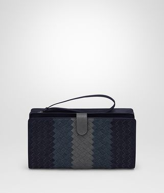 MULTI FUNCTIONAL CASE IN NEW DARK NAVY DENIM ARDOISE INTRECCIATO LAMB CLUB