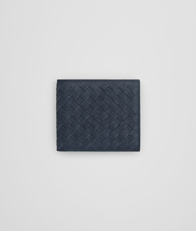 BOTTEGA VENETA BI-FOLD WALLET IN DENIM KRIM INTRECCIATO CALF Bi-fold Wallet Man fp