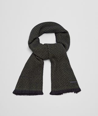 SCARF IN BLACK DARK GREEN CASHMERE