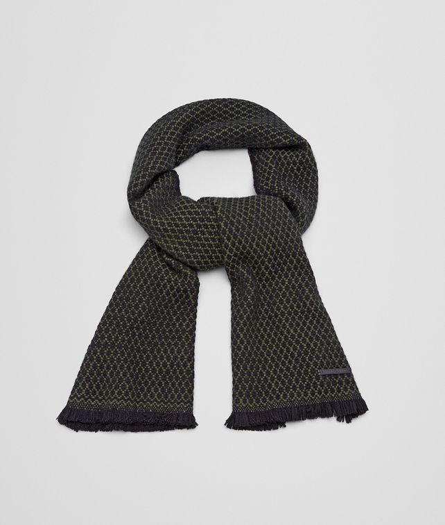 BOTTEGA VENETA SCARF IN BLACK DARK GREEN CASHMERE Scarf or other U fp