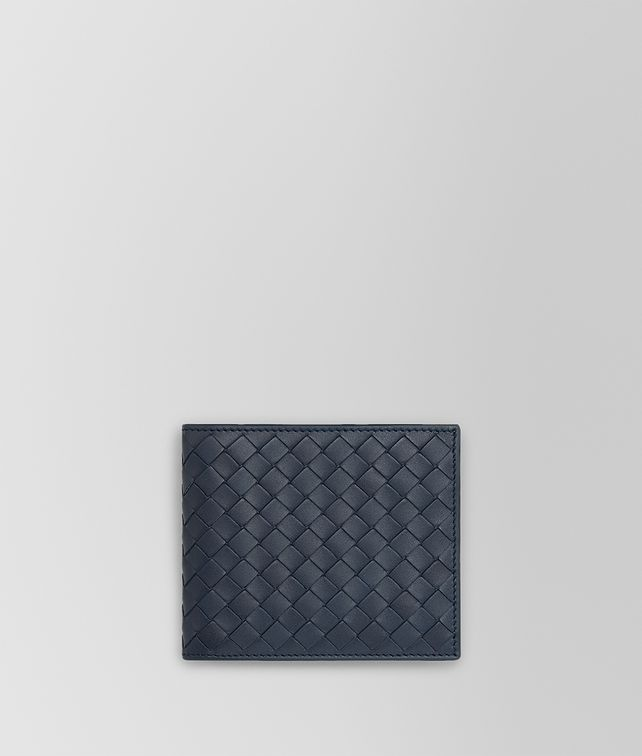 BOTTEGA VENETA BI-FOLD WALLET IN DENIM INTRECCIATO VN Bi-fold Wallet Man fp
