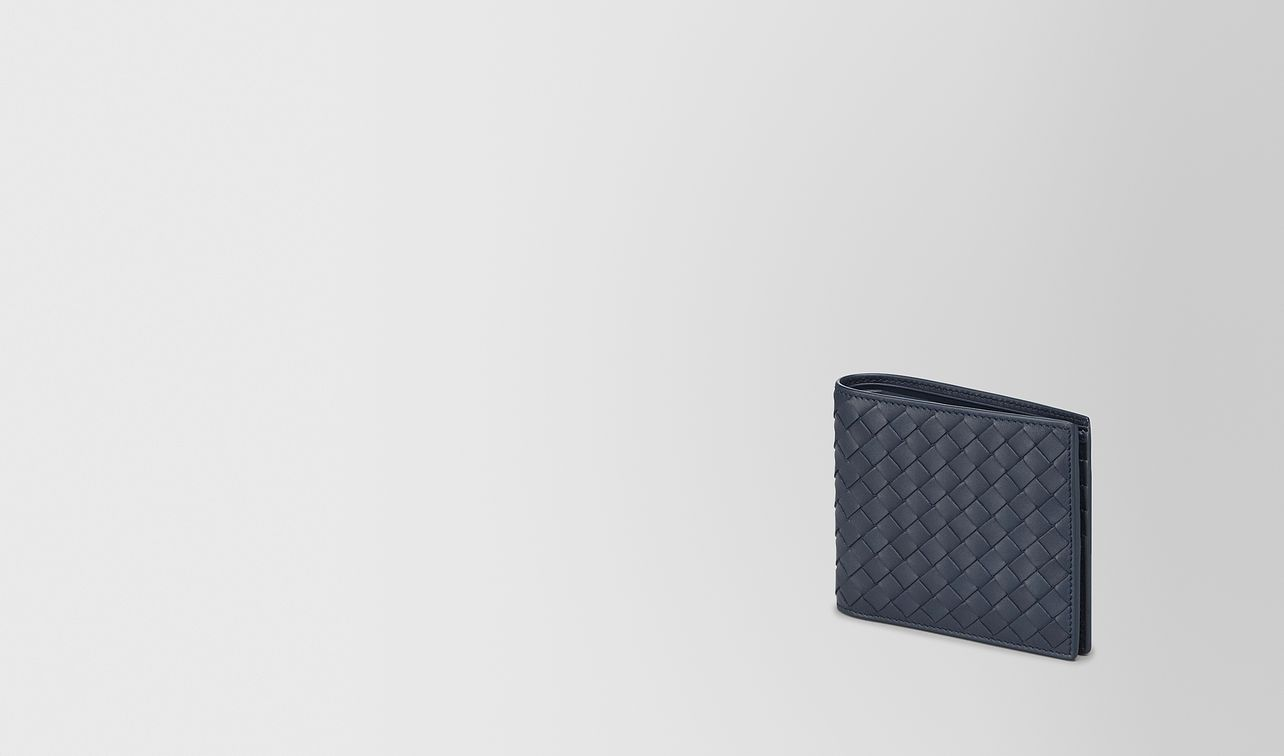 bi-fold wallet in denim intrecciato vn landing