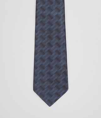 TIE IN ROYAL BLACK SILK