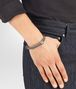 BOTTEGA VENETA BRACELET IN STEEL INTRECCIATO NAPPA AND SILVER Bracelet Man ap