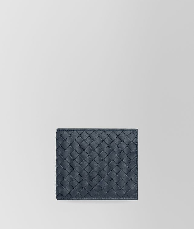 BOTTEGA VENETA BI-FOLD WALLET WITH COIN PURSE IN DENIM INTRECCIATO VN Bi-fold Wallet Man fp