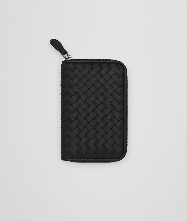 BOTTEGA VENETA ZIP AROUND WALLET IN NERO INTRECCIATO NAPPA Zip Around Wallet [*** pickupInStoreShipping_info ***] fp