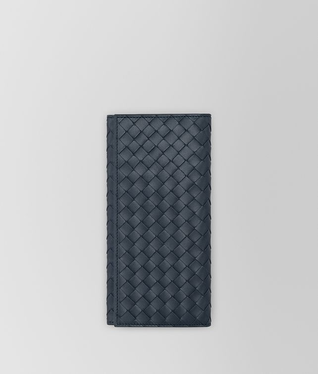 BOTTEGA VENETA CONTINENTAL WALLET IN DENIM INTRECCIATO VN Continental Wallet Man fp