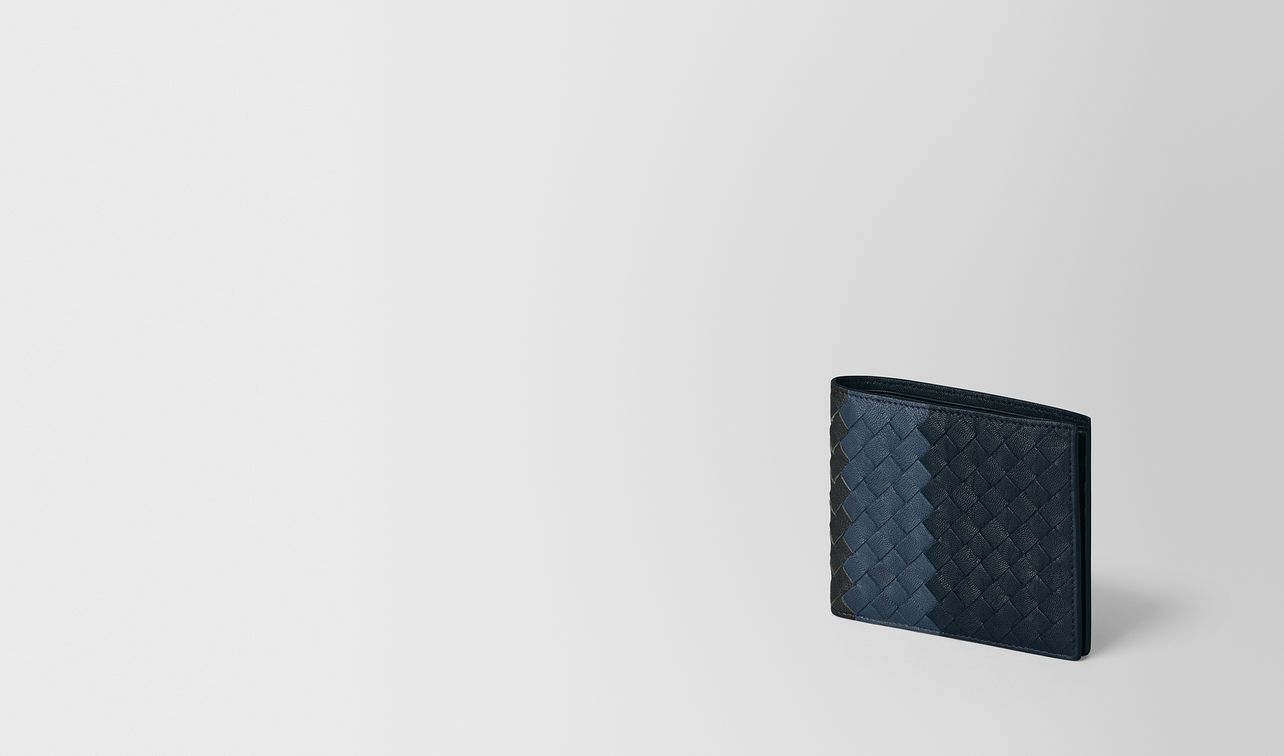multicolor intrecciato club lamb wallet landing