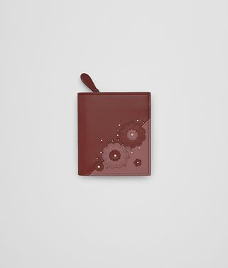 MINI WALLET IN PETRA EMBROIDERED NAPPA LEATHER,  METAL STUDS DETAILS