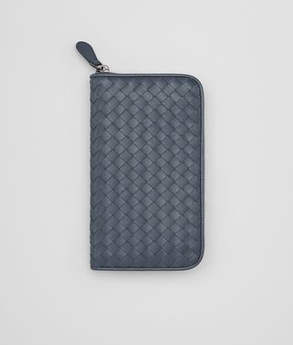 ZIP AROUND WALLET IN KRIM INTRECCIATO VN