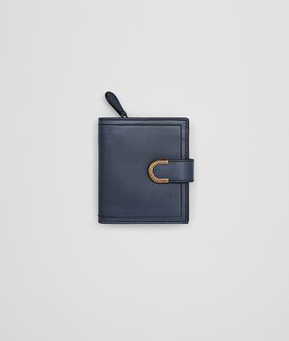 MINI WALLET IN DENIM CALF