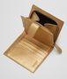 BOTTEGA VENETA MINI WALLET IN DARK GOLD INTRECCIATO GROS GRAIN Mini Wallet Woman lp
