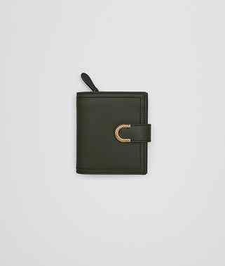 MINI WALLET IN MOSS CALF