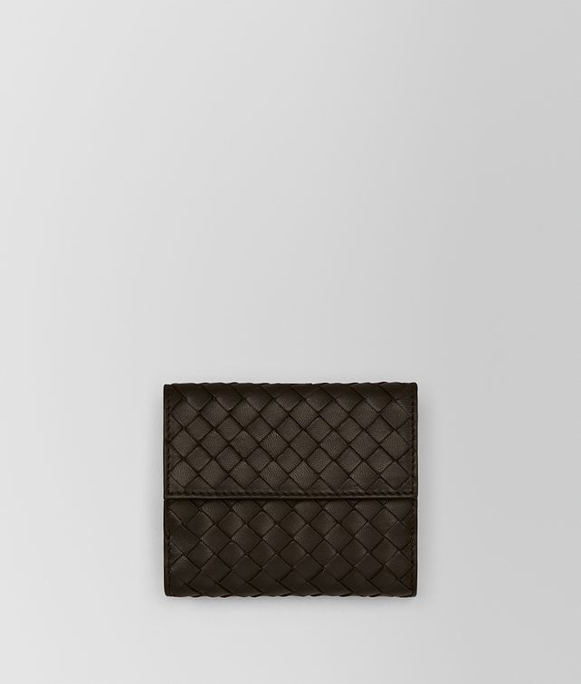 BOTTEGA VENETA MINI WALLET IN ESPRESSO INTRECCIATO NAPPA Mini Wallet or Coin Purse D fp