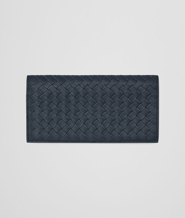 BOTTEGA VENETA CONTINENTAL WALLET IN DENIM KRIM INTRECCIATO CALF Continental Wallet U fp