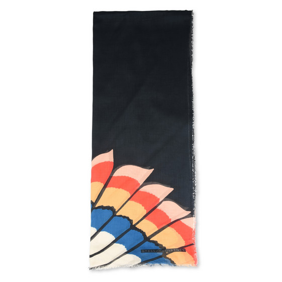 Foulard con Stampa Feathers