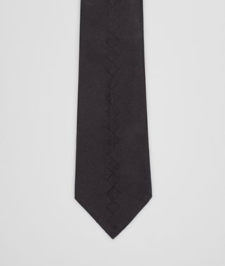 TIE IN BLACK SILK