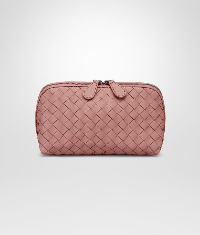 BOTTEGA VENETA MEDIUM COSMETIC CASE IN BOUDOIR INTRECCIATO NAPPA Other Leather Accessory Woman fp