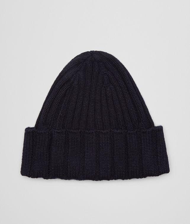 BOTTEGA VENETA HAT IN NAVY RIBBED CASHMERE Scarf or other D fp