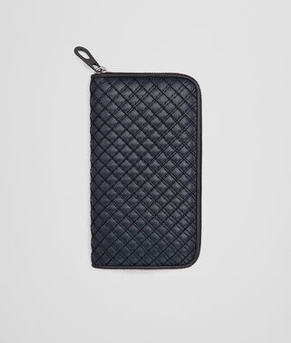 PRUSSE CALF ZIP-AROUND WALLET