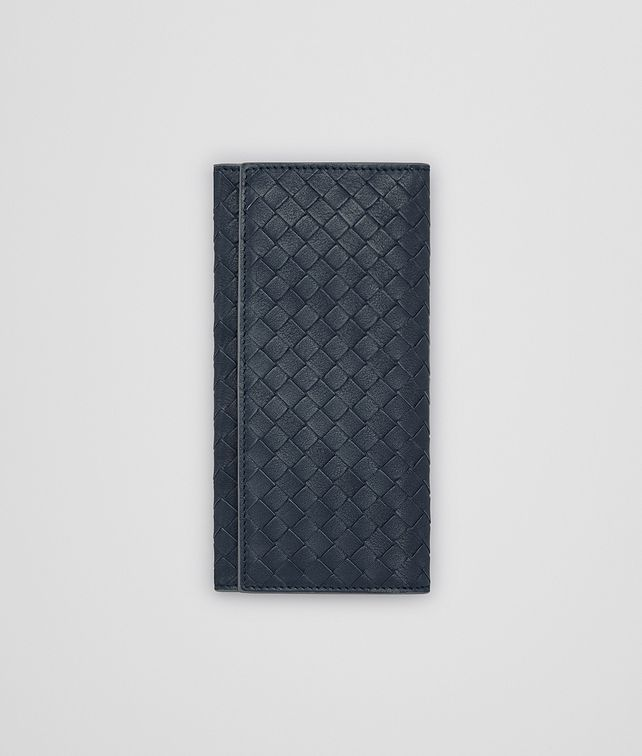 BOTTEGA VENETA CONTINENTAL WALLET IN DENIM KRIM INTRECCIATO CALF Continental Wallet Man fp