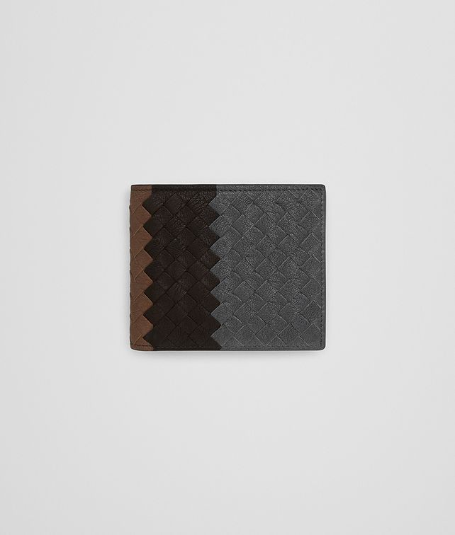 BOTTEGA VENETA ARDOISE INTRECCIATO LAMB CLUB LEATHER BI-FOLD WALLET Bi-fold Wallet Man fp