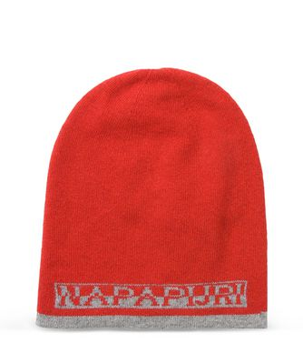 NAPAPIJRI FOSS REVERSIBLE MAN BEANIE,RED