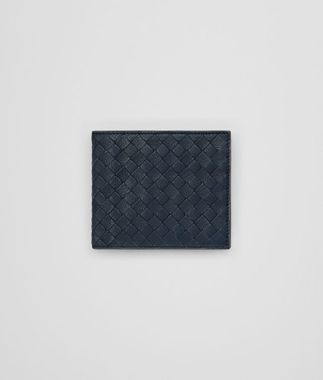 BOTTEGA VENETA BI-FOLD WALLETWITH COIN PURSE IN DENIM KRIM INTRECCIATO CALF Bi-fold Wallet Man fp