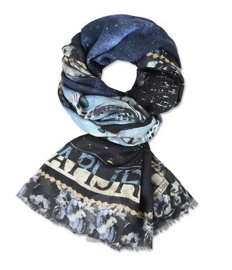 NAPAPIJRI FOULA WOMAN SCARF,DARK BLUE