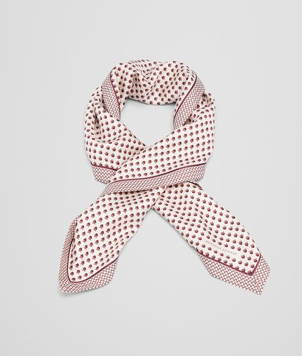 BOTTEGA VENETA Scarf or other D FOULARD IN CREAM BORDEAUX SILK fp
