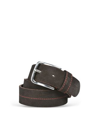 NAPAPIJRI PALU SUEDE MAN BELT,DARK BROWN