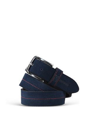 NAPAPIJRI PALU SUEDE MAN BELT,DARK BLUE