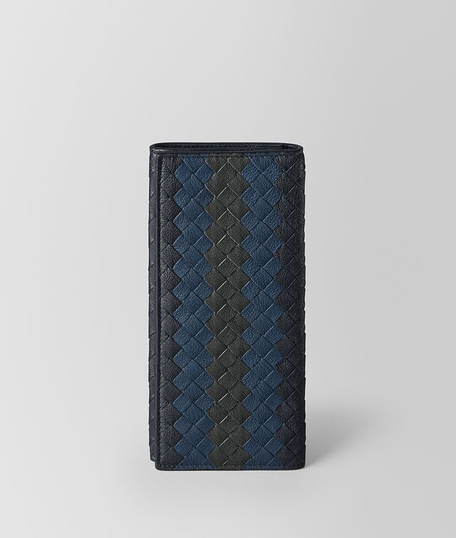 BOTTEGA VENETA CONTINENTAL WALLET IN NEW DARK NAVY DENIM ARDOISE INTRECCIATO LAMB CLUB Continental Wallet U fp