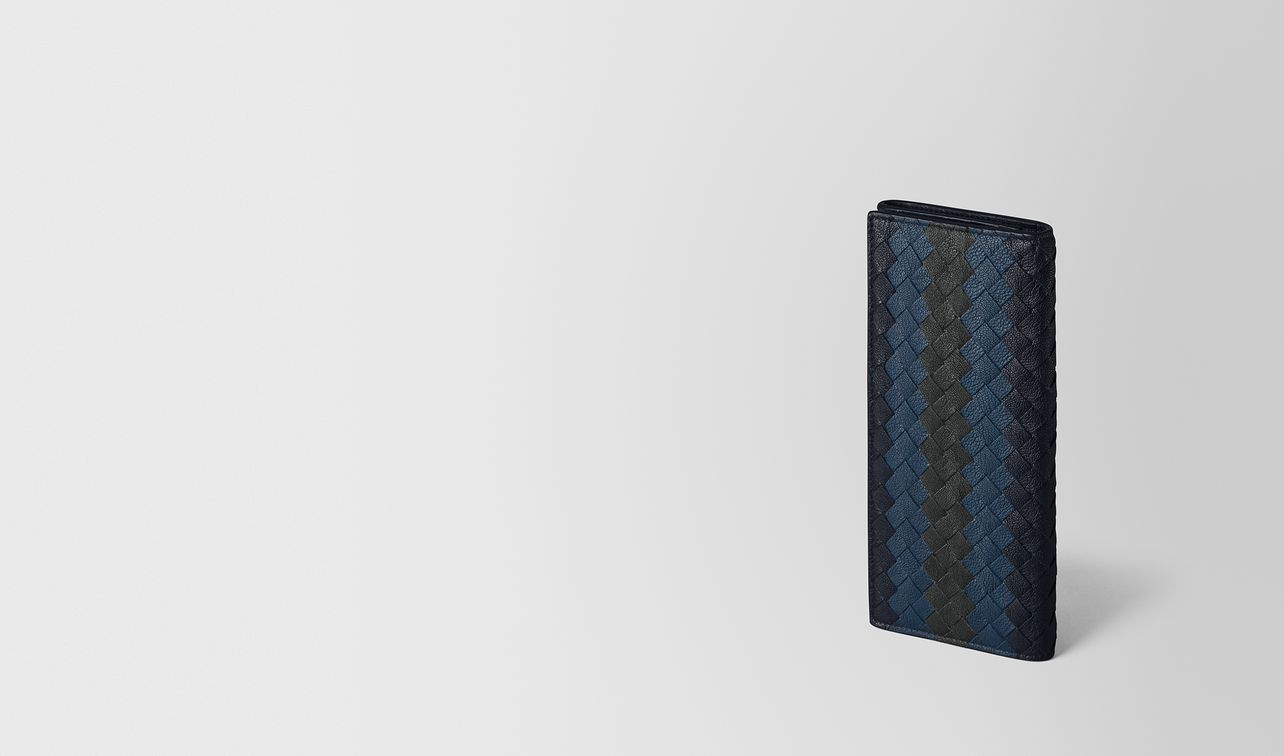 multicolor intrecciato club lamb continental wallet landing