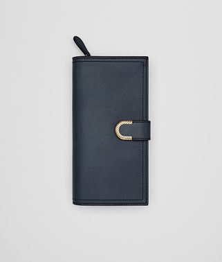 CONTINENTAL WALLET IN DENIM CALF