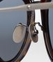BOTTEGA VENETA SUNGLASSES IN SHINY DARK HAVANA ACETATE AND METAL , MIRROR SILVER LENS Sunglasses E dp