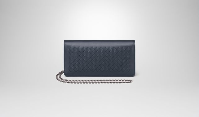 CONTINENTAL WALLET IN DENIM INTRECCIATO NAPPA