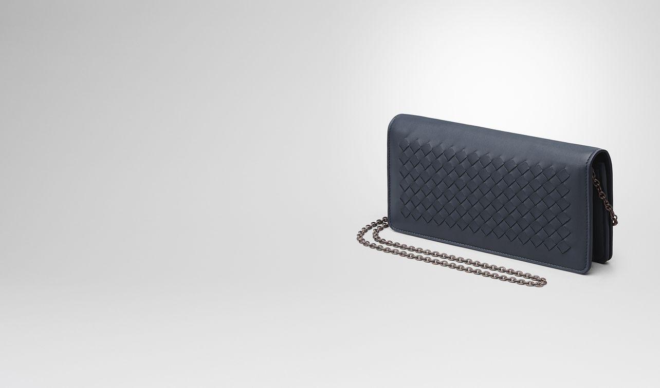 continental wallet in denim intrecciato nappa landing